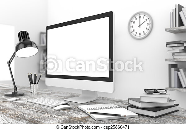 lieu travail, bureau - csp25860471