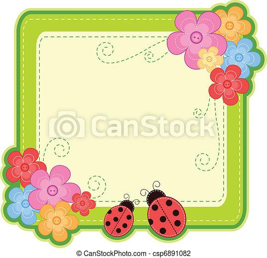 lieveheersbeest, frame - csp6891082