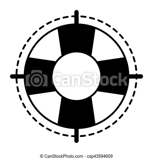 Vintage Lifebuoy. Vector Modern Line Outline Flat Style Cartoon.. Royalty  Free Cliparts, Vectors, And Stock Illustration. Image 85547355.