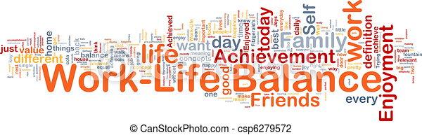?life, concept, evenwicht, werken, achtergrond - csp6279572