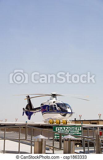 Life Flight Helecopter - csp1863333