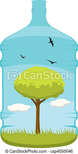 life in a 20l water bottle a lovely vector of a tree clip art rh canstockphoto com Wine Bottle Clip Art Champagne Bottle Clip Art