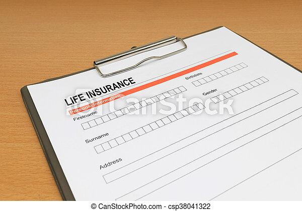 life Insurance application form - csp38041322
