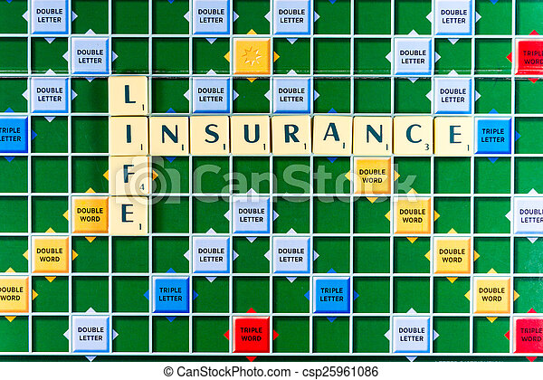 life insurance Crossword - csp25961086