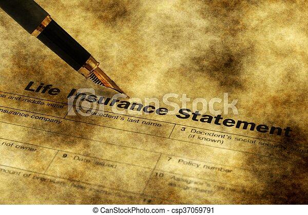 Life insurance form grunge concept - csp37059791
