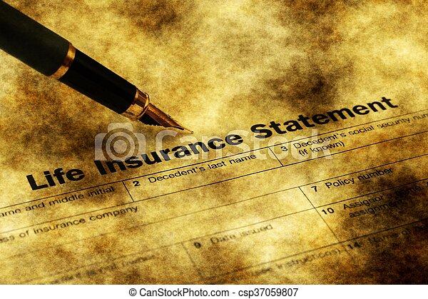 Life insurance form grunge concept - csp37059807