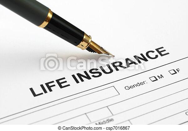 Life insurance form - csp7016867