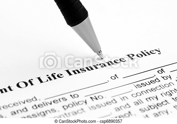 Life insurance policy - csp6890357