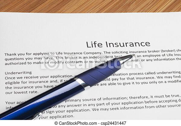 Life insurance - csp24431447