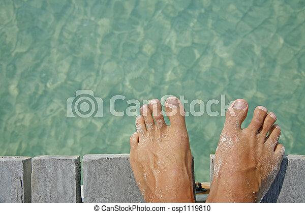 Life is a Beach (Feet) - csp1119810