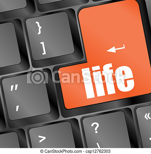 Life key in place of enter key - social concept - csp12762303