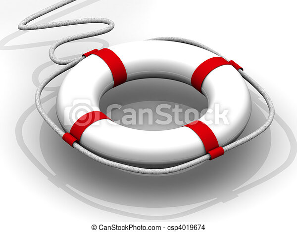 life preserver for first help - csp4019674