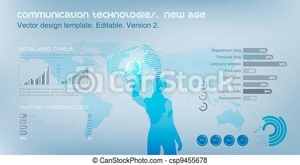 Edificio de alta tecnología. Vida virtual. - csp9455678