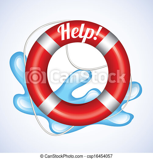 Lifebuoy Help  - csp16454057