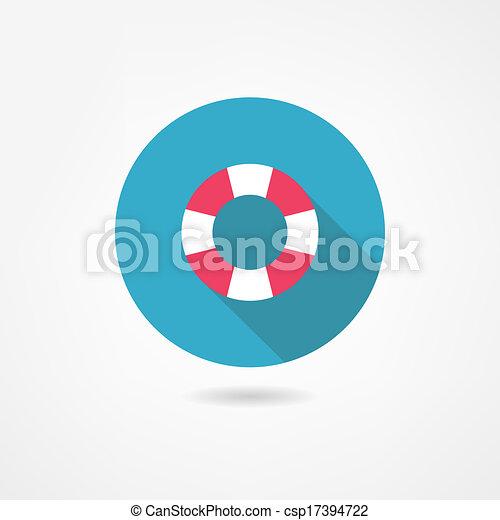 lifebuoy icon - csp17394722