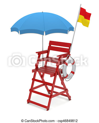 lifeguard chair 3d illustration clipart search illustration rh canstockphoto com