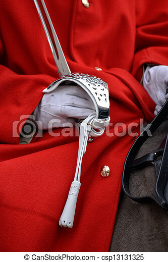Lifeguard of the Queens Household Cavalry - csp13131325