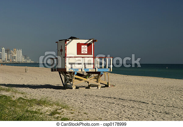 b256dec46878 Lifeguard shack. A lifeguard tower in surfside (florida) with a view ...