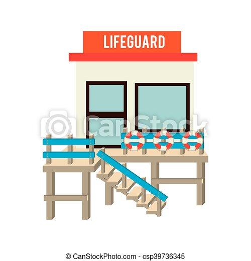 lifeguard station beach design vector illustration eps 10 eps vector rh canstockphoto com