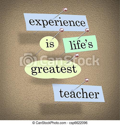 life's, -, 経験, 生きている, 最も大きい, 教育, 教師 - csp6622096