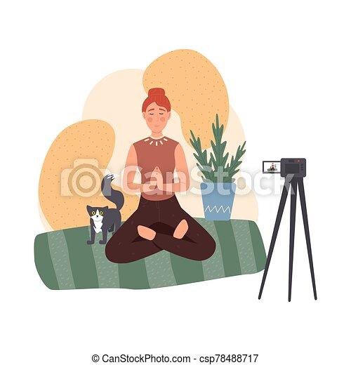 lifestyle., 瞑想, について, 健康, blog - csp78488717