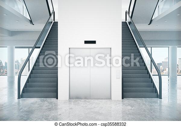 Lift trap render twee lift ontwerp between interieur