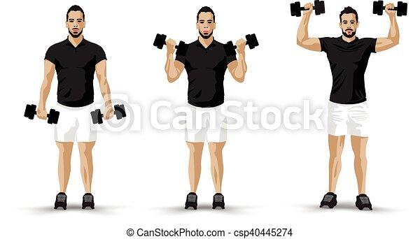 lifting weights - csp40445274