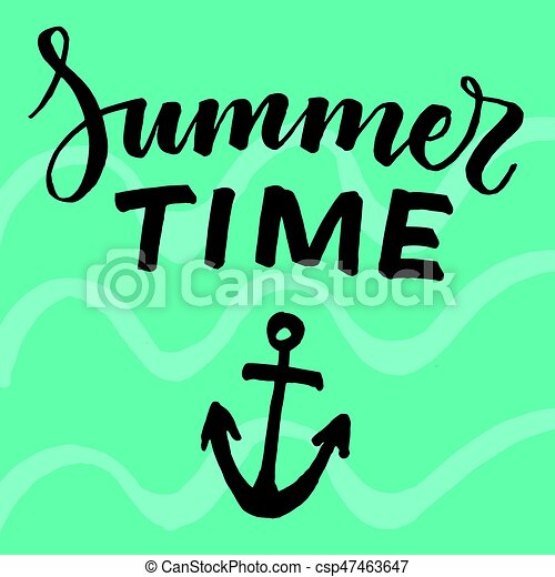 light abstract summer typographic template with black eps vector