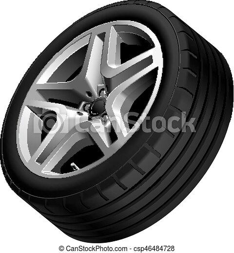 Light alloy wheel isolated - csp46484728