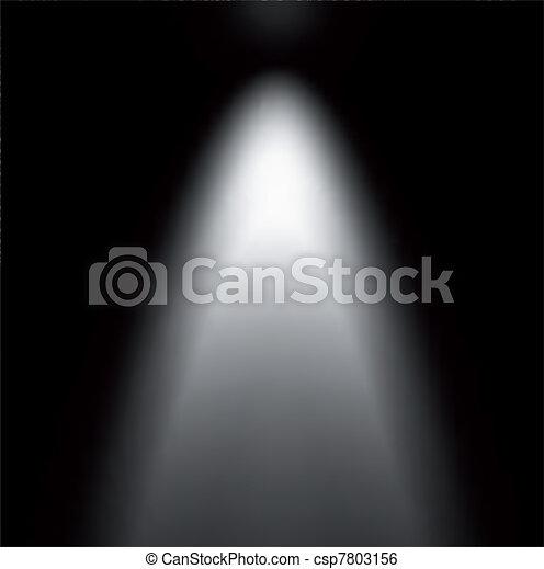 Light Beam From Projector. Vector illustration - csp7803156