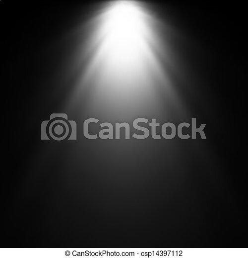 Light Beam From Projector. Vector illustration - csp14397112