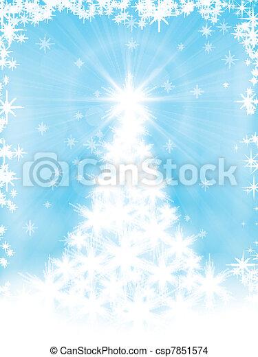 Light blue Christmas card - csp7851574