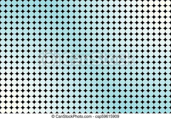 Light Blue Circles on Black Background - csp59615909
