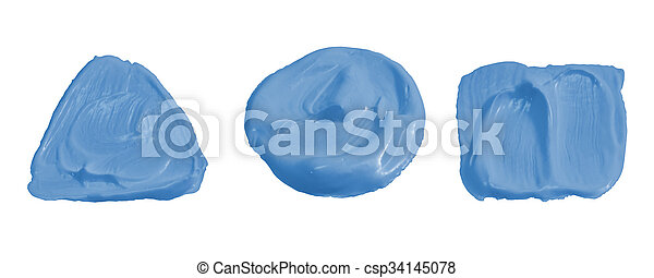 Light blue color paint isolated on white - csp34145078