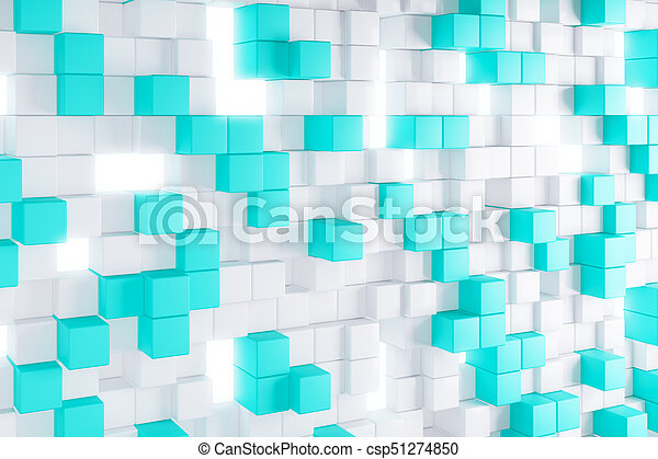 light blue cube background abstract light blue cube background geometry design concept 3d rendering can stock photo