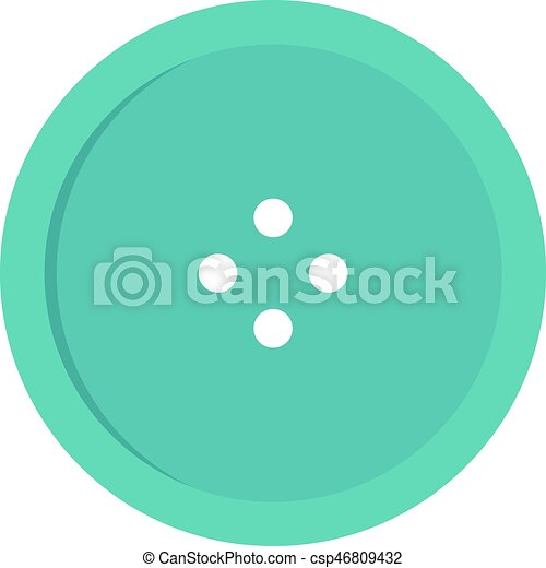 Light blue sewing button icon isolated - csp46809432