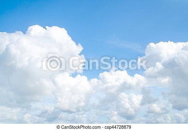 light blue sky and white cloud - csp44728879