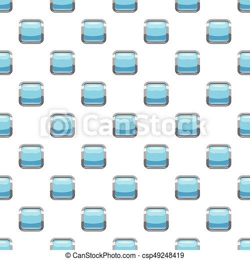 Light blue square button pattern - csp49248419