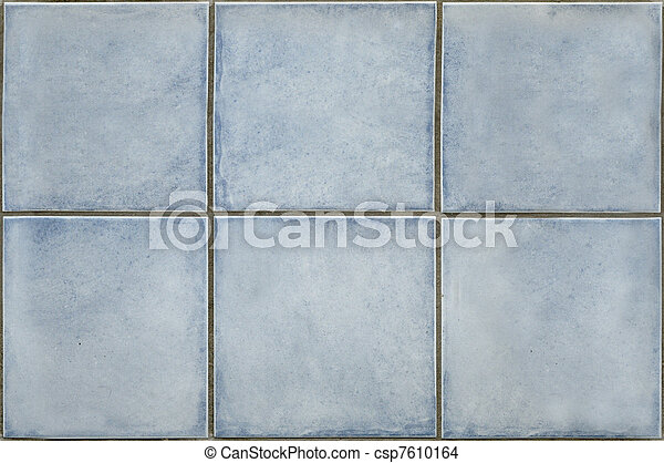 Light blue tiles texture that perfectly loop horizontally and vertically - csp7610164