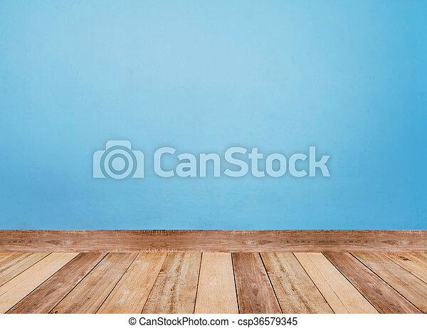 Light Blue Wall And Floor Tiles Wood Pattern As Background