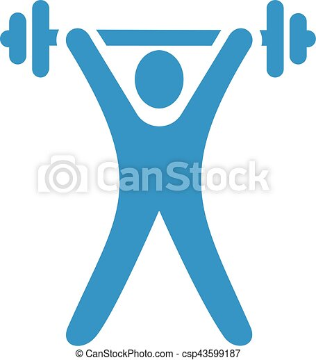 light blue weight lifting vector search clip art illustration rh canstockphoto com weightlifting clipart man lifting weights clipart