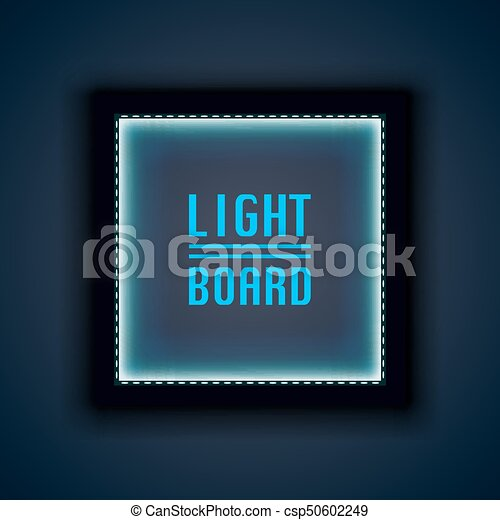 Light board background night neon