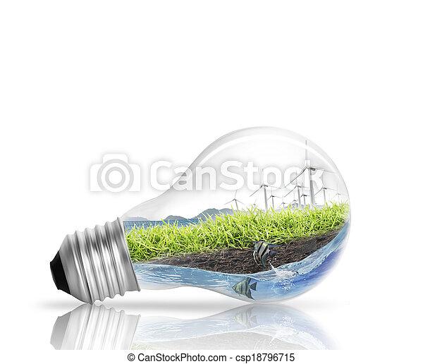light bulb Alternative energy concept  - csp18796715