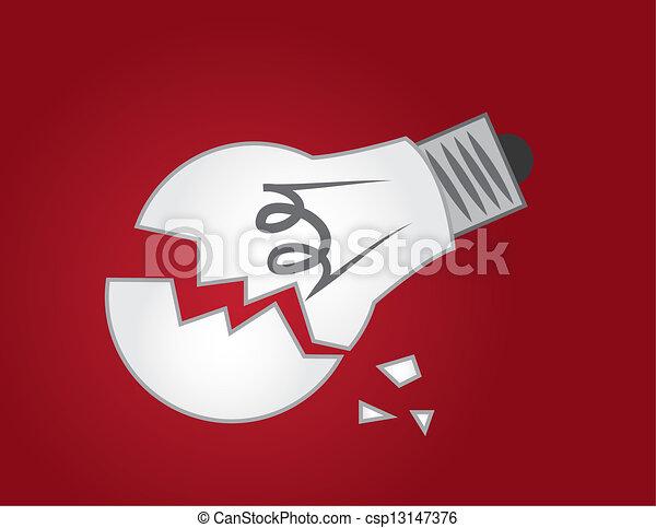 Light Bulb Broken  - csp13147376