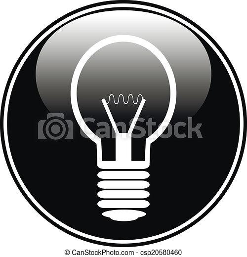 Light bulb button - csp20580460