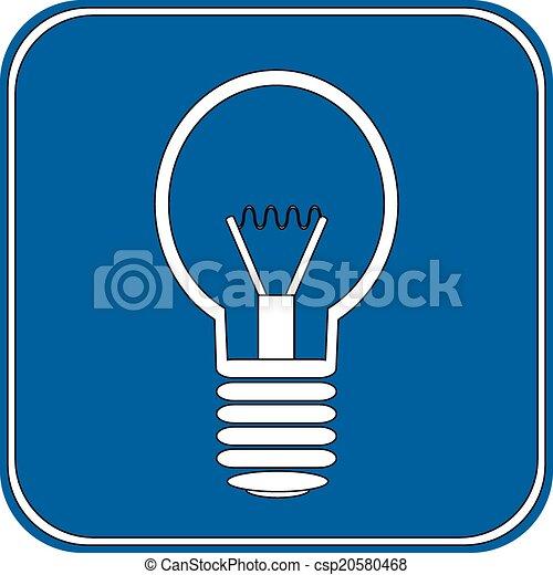 Light bulb button - csp20580468