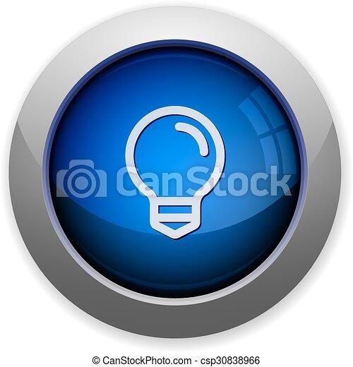 Light bulb button - csp30838966