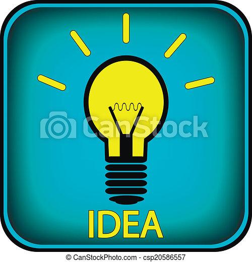 Light bulb button - csp20586557