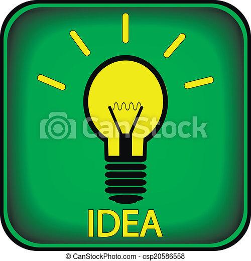 Light bulb button - csp20586558