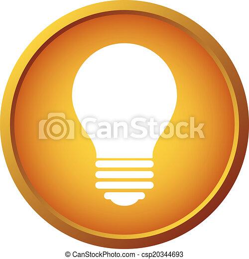 Light bulb button - csp20344693